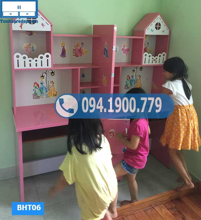 Bàn học nhựa đôi cho 2 bé chóp ngôi nhà nhỏ BHT06
