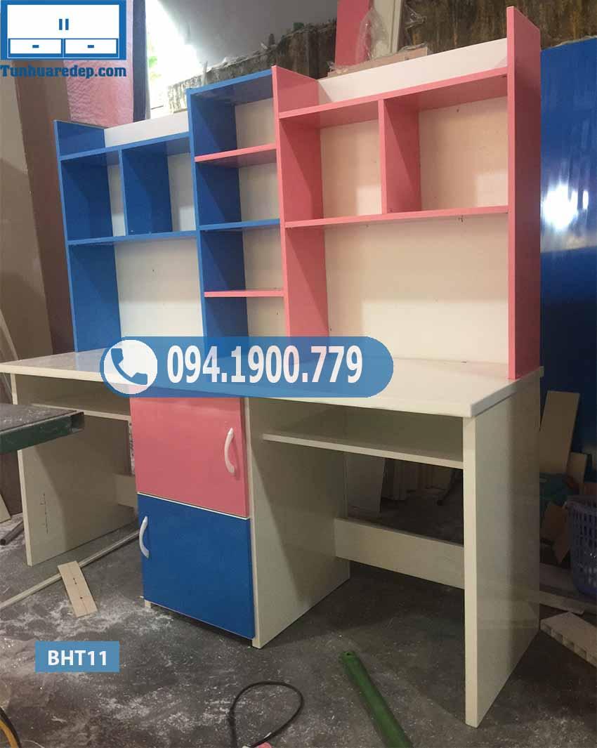 Bàn học nhựa đôi Đài Loan cho 2 bé BHT11
