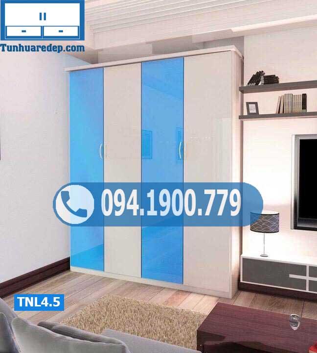 Tủ nhựa quần áo người lớn 4 cánh đơn giản TNL4.5