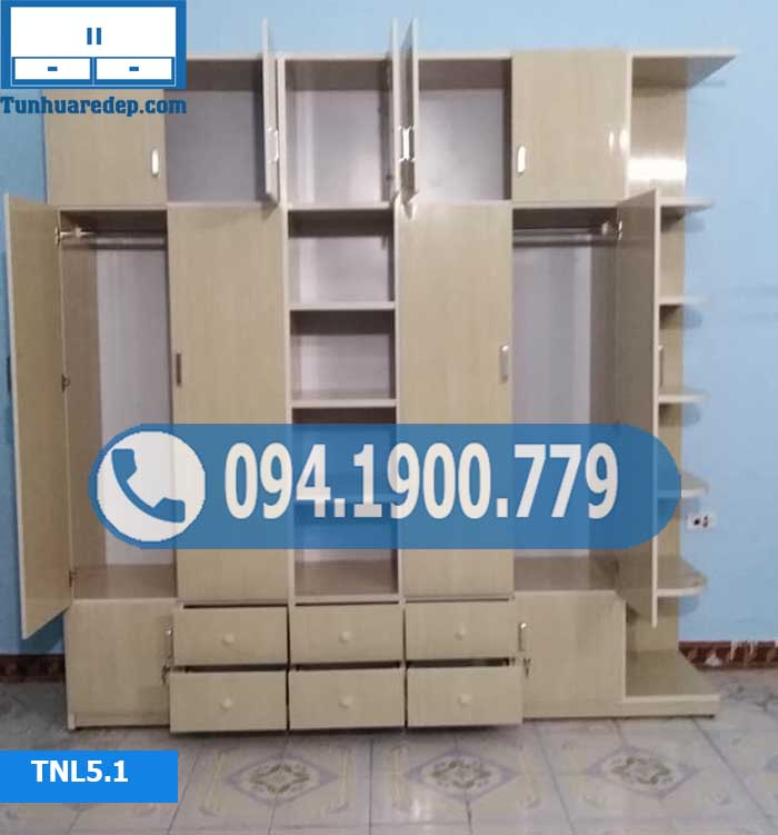 tủ nhựa quần áo Hà Nội giá rẻ 5 cánh TNL5.1