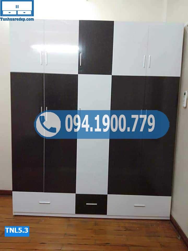 tủ nhựa đựng quần áo 5 buồng cỡ lớn TNL5.3