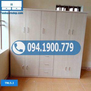 Tủ nhựa quần áo người lớn 5 buồng nhiều ngăn TNL5.2