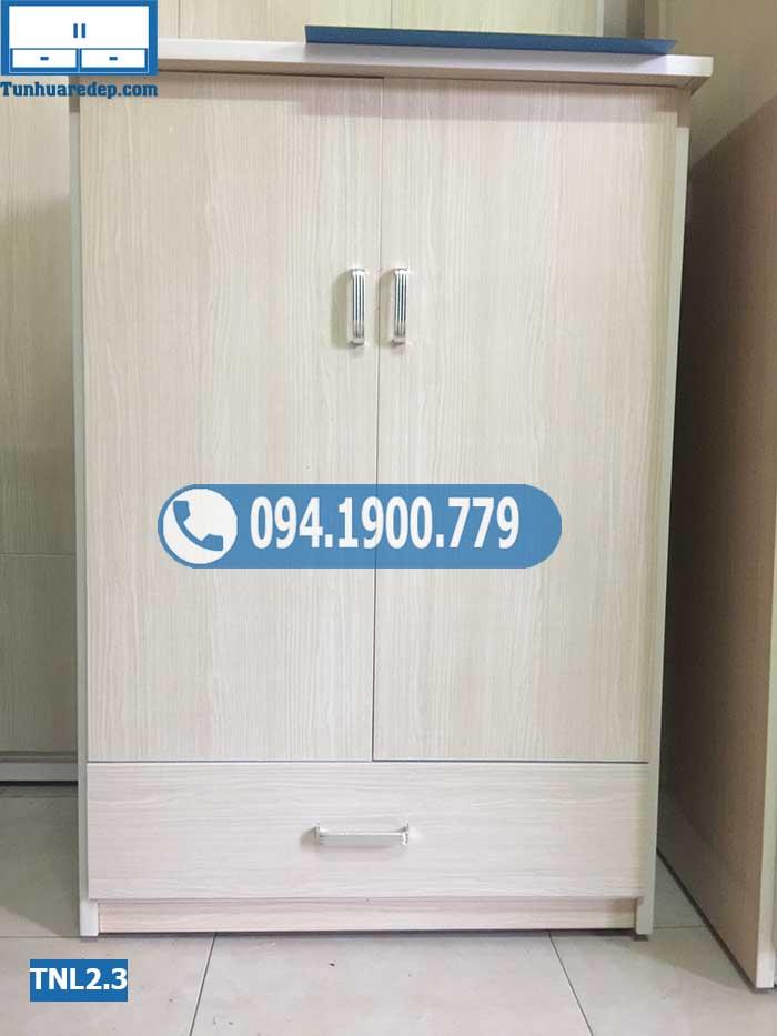 Tủ nhựa mini đựng quần áo 2 cánh(buồng) cho sinh viên TNL2.3