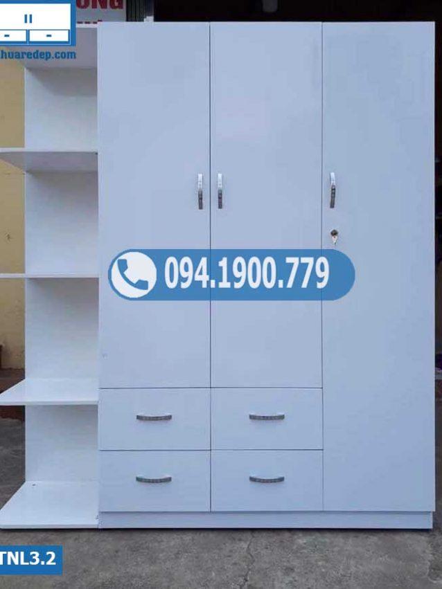 Tủ nhựa quần áo người lớn 3 cánh(buồng) 1 hốc TNL3.1