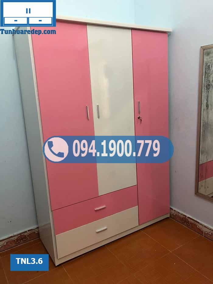 Tủ đựng quần áo người lớn 3 cánh(buồng) bằng nhựa TNL3.6