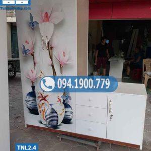 Tủ nhựa đựng quần áo người lớn 2 cánh to 2 cánh nhỏ TNL2.4