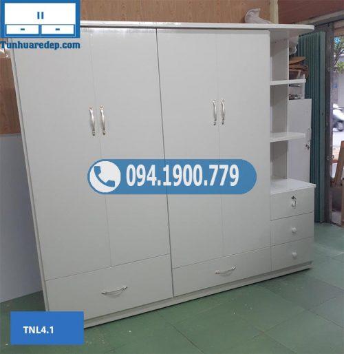 Tủ nhựa đựng quần áo 4 cánh 1 hộc TNL4.1