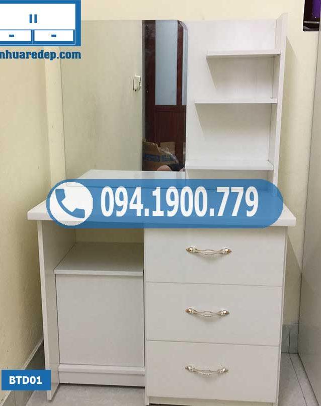 Bàn trang điểm bằng nhựa Đài Loan 3 tầng BTD01