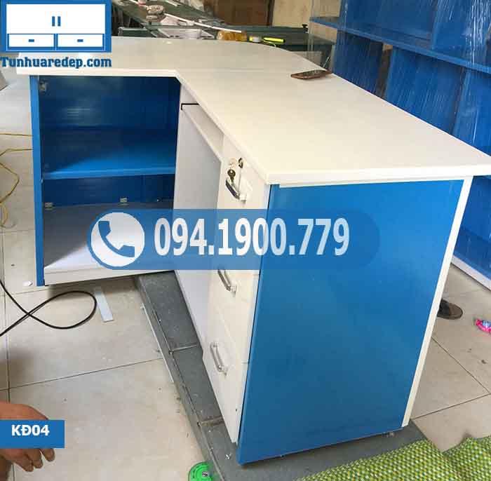 Quầy nhựa lễ tân (quầy hàng) 2 hốc 3 ngăn kéo KĐ04