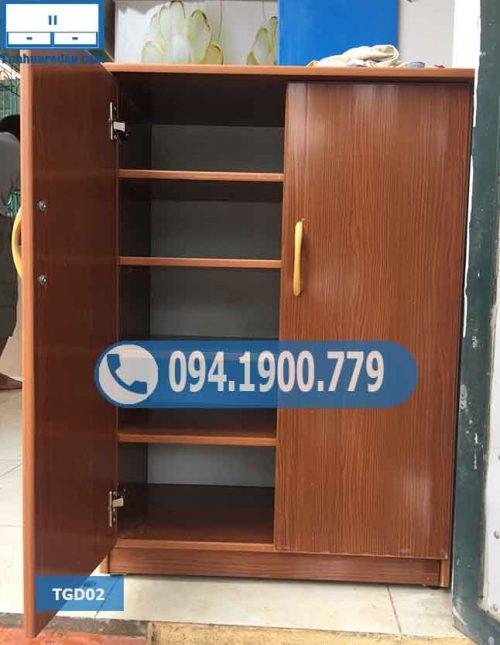 Tủ nhựa để giày dép 2 cánh 5 tầng TGD02