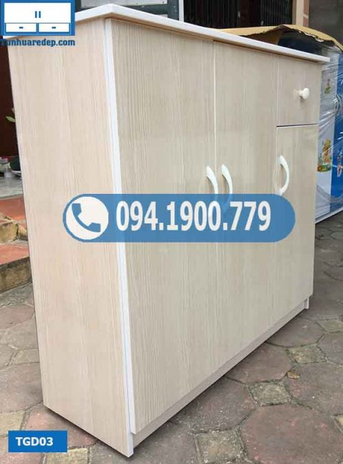 Tủ nhựa giầy dép 3 cánh 5 tầng TGD03