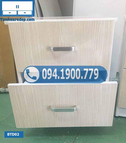 Tab đầu giường 2 tầng bằng nhựa Đài Loan BTD02