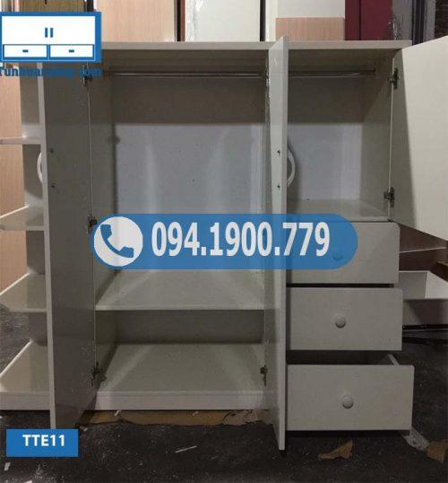 Tủ nhựa quần áo nhiều ngăn cho bé TTE11