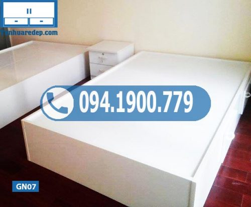Giường ngủ nhựa cho trẻ em không tựa GN07