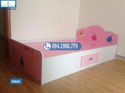Giường ngủ nhựa Đài Loan có tựa cho trẻ em GN06