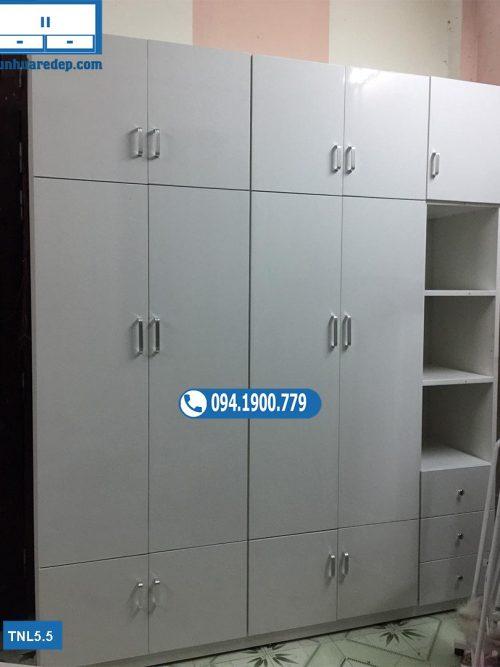 Tủ nhựa quần áo Đài Loan 5 cánh kịch trần nhiều ngăn kéo TNL5.5