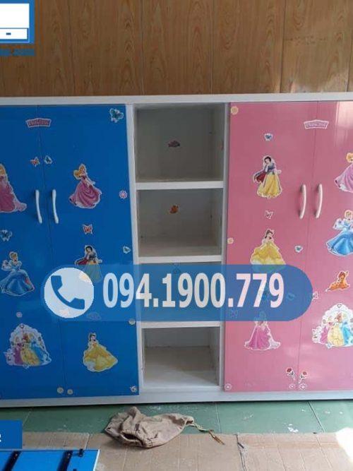 Tủ nhựa đựng quần áo trẻ em 4 cánh 1 hộc TTE12